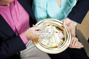 8240772-church-receives-donations-by-passing-the-collection-plate