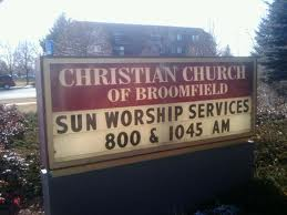 Sunday worship sign