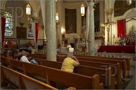 Catholic church praying