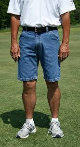 man in shorts