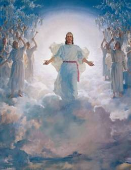 Image result for picture of Christ coming in clouds of glory